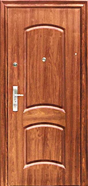 входная стальная недорогая дверь из массива