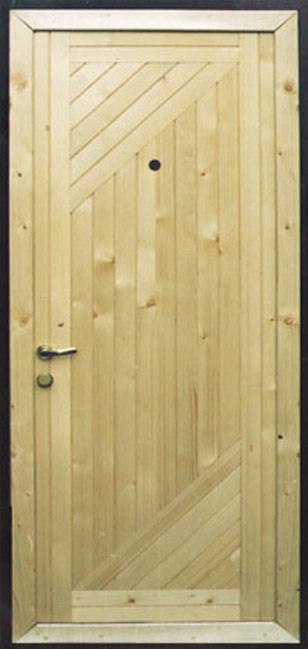 образцы металлических дверей обшитых деревом